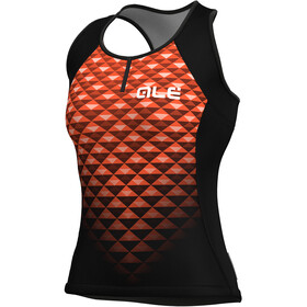 Alé Cycling Solid Hexa Ärmlös cykeltröja Dam orange/svart
